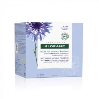 Klorane Patchs yeux lissants & défatigants au bleuet Bio - 7 x 2 Patchs