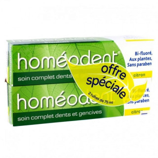 Boiron Homéodent Dentifrice citron - Lot de 2 x 75ml