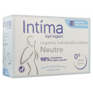 Intima Gyn Expert Lingettes individuelles intimes neutres - 12 sachets