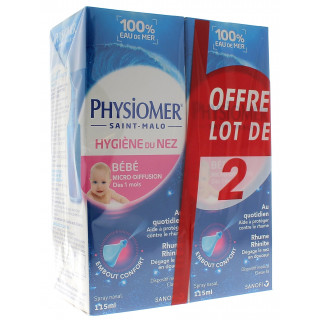 Physiomer Lot de 2x115ml  Nourrissons