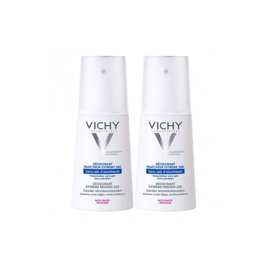 Vichy deodorant fraicheur extreme lot de 2
