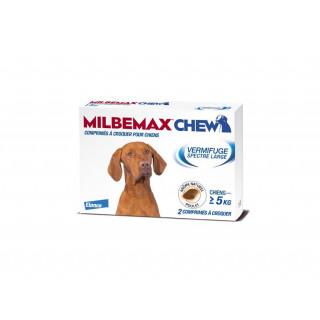 Milbemax Chew Chiens de 5 kg et plus - 2 comprimés