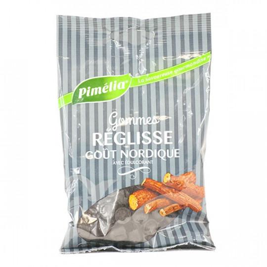 Pimelia Gommes réglisse goût nordique sans sucre - 100g