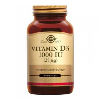 Solgar Vitamine D3 1000 UI - 100 comprimés à croquer