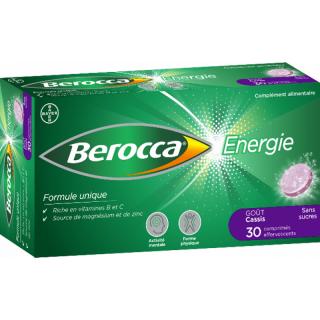 Bayer Berocca Énergie goût cassis - 30 comprimés effervescents