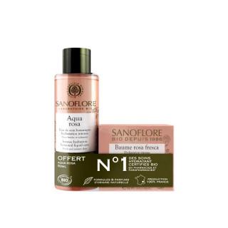 Sanoflore Rosa Fresca Baume de rosée nuit Bio 50ml + Mini Aqua Rosa 50ml Offert
