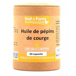 Nat&Form Huile de pépins de courge - 60 capsules