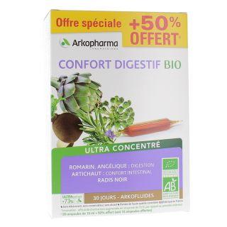 Arkofluides Confort digestif Bio - 30 ampoules