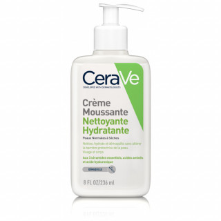 Cerave Crème moussante nettoyante hydratante visage - 236ml