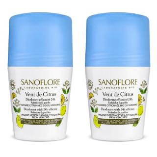 Sanoflore Vent de Citrus Déodorant efficacité 24h Bio - 2 x 50ml