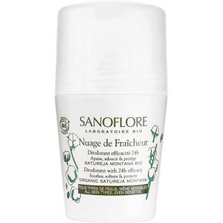 Sanoflore Déodorant efficacité 24h Nuage de Fraîcheur Bio - 50ml