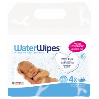 WaterWipes Lingettes Pures - Lot de 4 x 60 lingettes