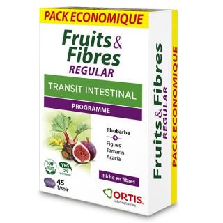 Ortis Fruits & Fibres Regular Transit intestinal - 45 comprimés