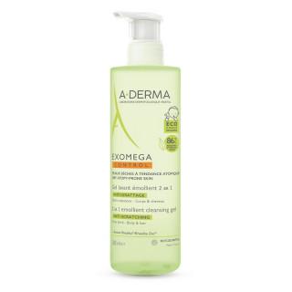 A-Derma Exomega Control Gel lavant émollient anti-grattage - 500ml