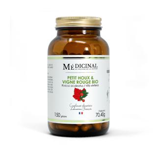 Médiprix Petit Houx / Vigne Rouge Bio - 150 gélules