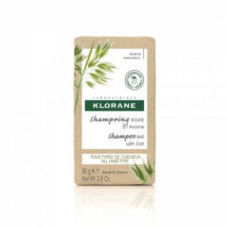 Klorane Shampoing solide Avoine tous types de cheveux - 80g