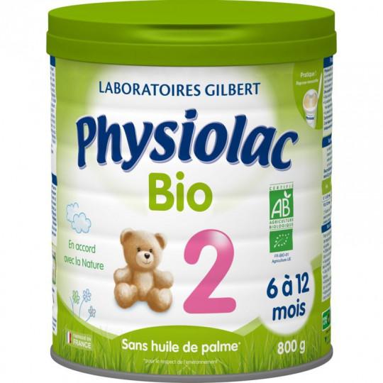 Physiolac Lait 2ème âge Bio - 800g