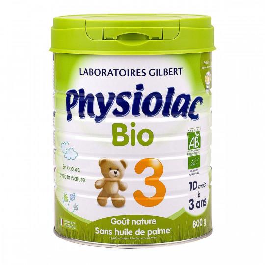 Physiolac Lait de croissance 3ème âge Bio - 800g