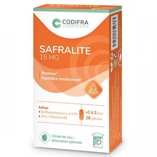 Codifra Safralite - Équilibre émotionnel - 28 gélules 15mg