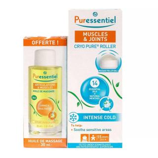 Puressentiel Cryo pure roller articulations et muscles 75ml + huile de massage Offerte
