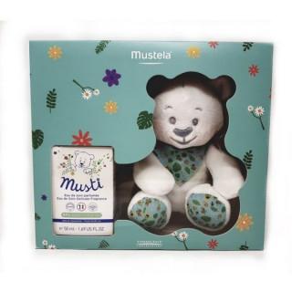 Mustela Coffret Musti eau de soin 50ml+ Doudou ours blanc