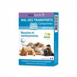 Vetoform Mal des transports chien et chat - 30 comprimés