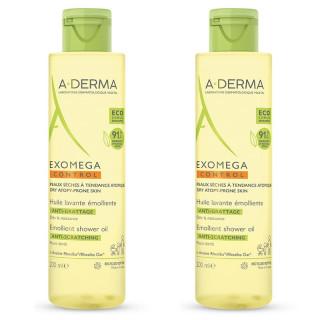 A-Derma Exomega Control Huile lavante émolliente - 2 x 500ml