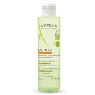 A-Derma Exomega Control Gel lavant émollient anti-grattage - 200ml