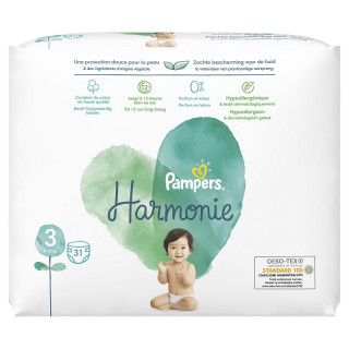 Pampers Harmonie Couches T3 (6-10kg) - 31 couches