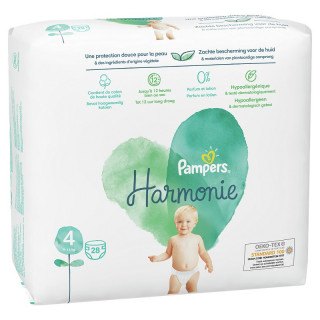 Pampers Harmonie Couches T4 (9-14kg) - 28 couches