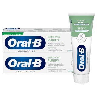 Oral B Dentifrice Gencives Purify - 2 x 75ml