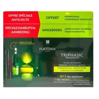 Furterer Triphasic Progressive 8 ampoules + Triphasic Shampoing 100ml Offert