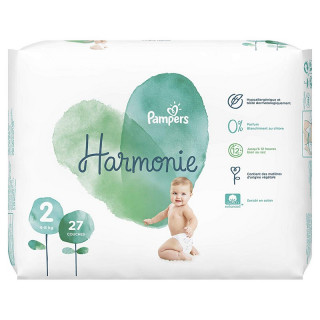 Pampers Harmonie Couches T2 (4-8kg) - 39 couches