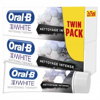 Oral B 3D White Dentifrice whitening - 2 x 75ml