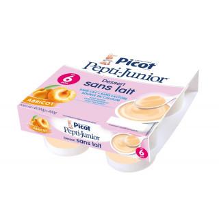 Picot Pepti Junior Dessert sans lait abricot dès 6 mois x 4
