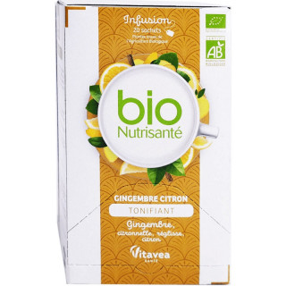 Nutrisanté Infusion Gingembre Citron Bio - 20 sachets
