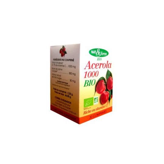 Nat et Form Acerola 1000 Bio 30cpr
