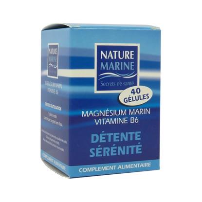 Nature Marine Magnésium Marin vitamine B6 40G