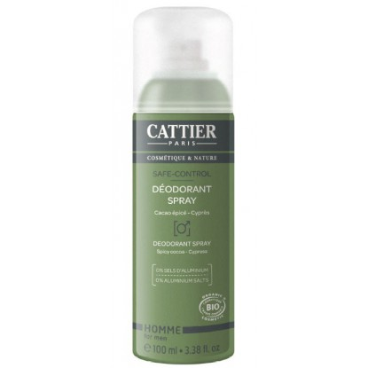 Cattier Homme Déodorant Spray 100ml