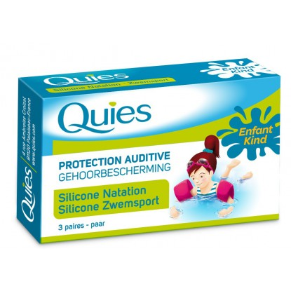 Quies Protection Auditive Silicone Naturel Enfant 3 Paires