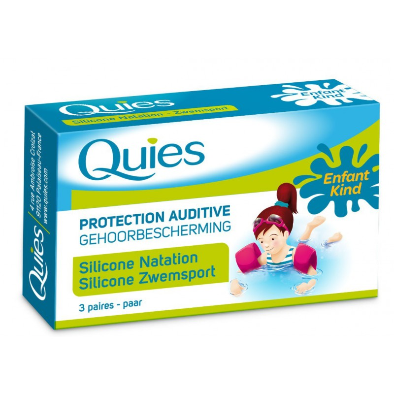 Quies protection auditive silicone naturel enfant 3 paires for Protection enfant piscine