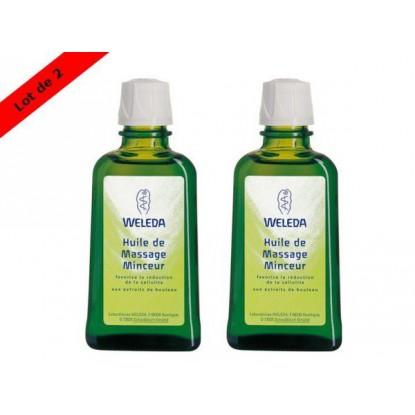 Weleda Huile de Massage Minceur 100ml Lot de 2 + Crème Gommante offerte