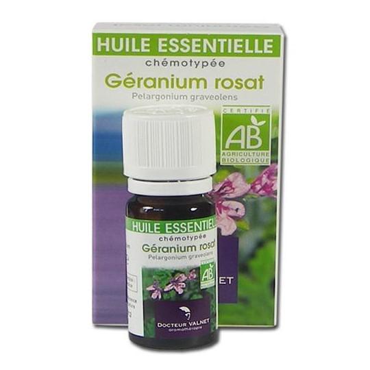 géranium huile essentielle bio Valnet 10ml