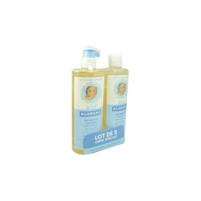 Klorane Bébé Gel Lavant Corps Lot de 2x500ml