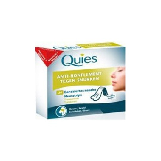 Quies Anti Ronflement 24 Bandelettes nasales Grand