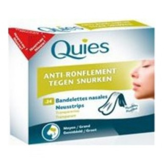 Quies Anti Ronflement 24 Bandelettes nasales petit/moyen