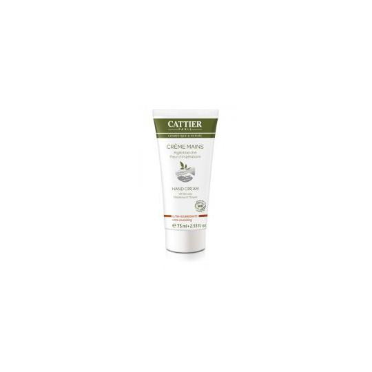 Cattier Crème Mains Argile Blanche Ultra Nourrissante 75ml