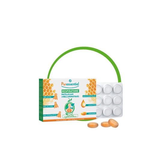 Puressentiel Respiratoire Pastilles 3 Miels aromatiques 24 pastilles