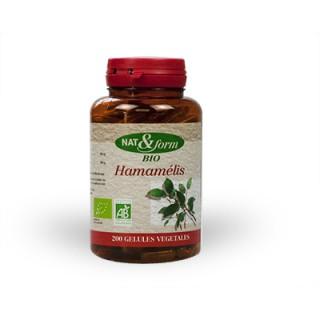 Nat & form Hamamélis bio 200 gélules