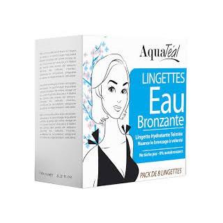 Aquatéal Lingettes Eau Bronzante Pack de 8